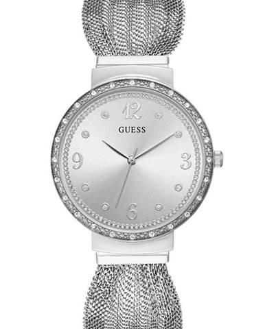 Stříbrné hodinky Guess
