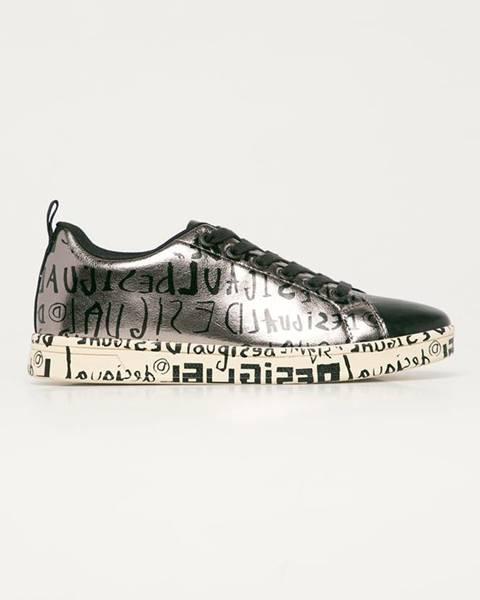 Stříbrné boty desigual