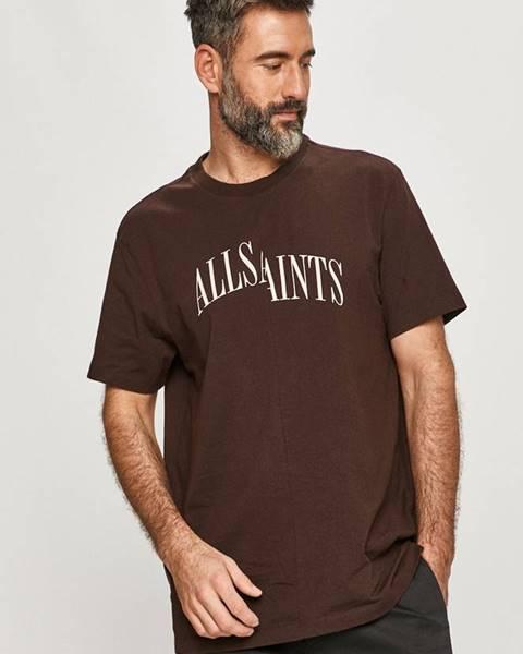 Hnědé tričko AllSaints