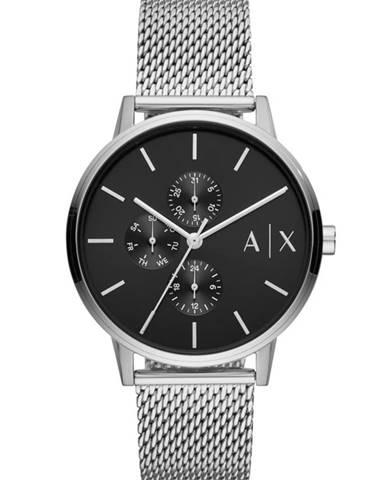 Stříbrné hodinky Armani Exchange