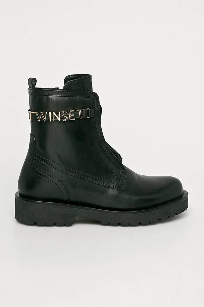 TWINSET Twinset - Kožené kotníkové boty