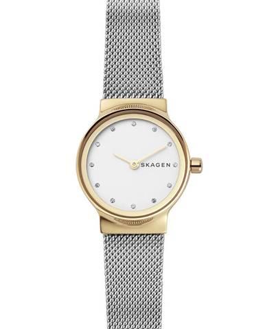 Stříbrné hodinky Skagen