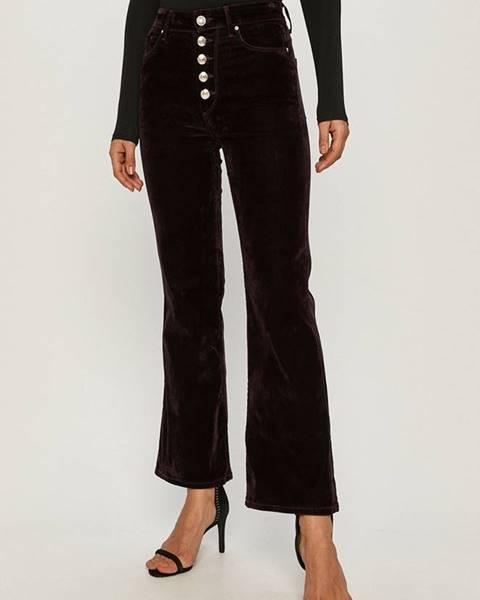 Burgundské kalhoty tommy hilfiger