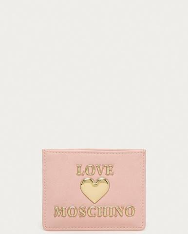 Růžová peněženka Love Moschino
