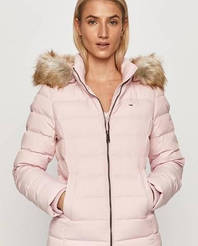 Růžová bunda Tommy Jeans