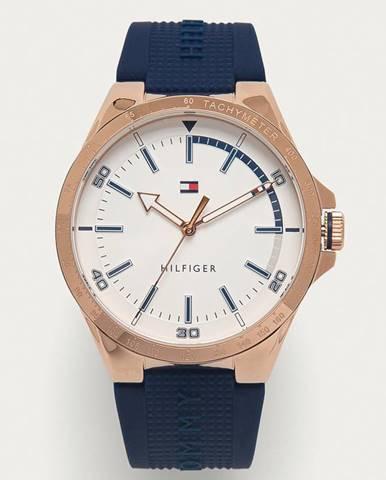 Modré hodinky tommy hilfiger