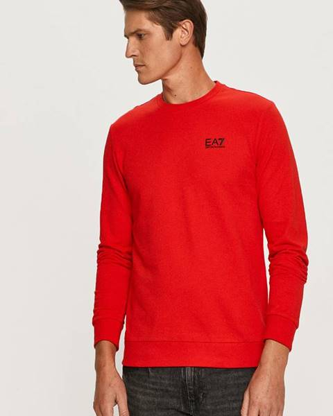 Červené tričko EA7 Emporio Armani