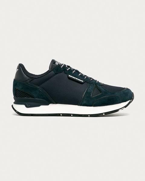 Modré boty Emporio Armani