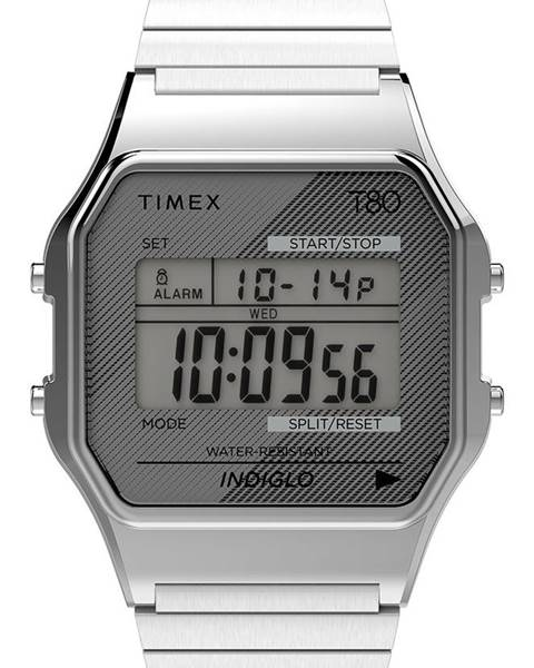 Stříbrné hodinky Timex