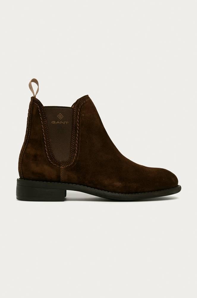 gant Gant - Kožené kotníkové boty Ainsley
