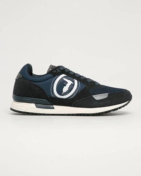 Modré boty Trussardi Jeans