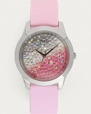 Růžové hodinky Guess