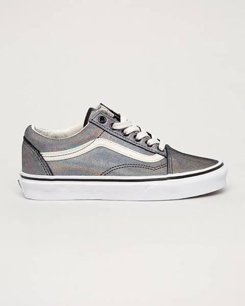 Stříbrné boty vans