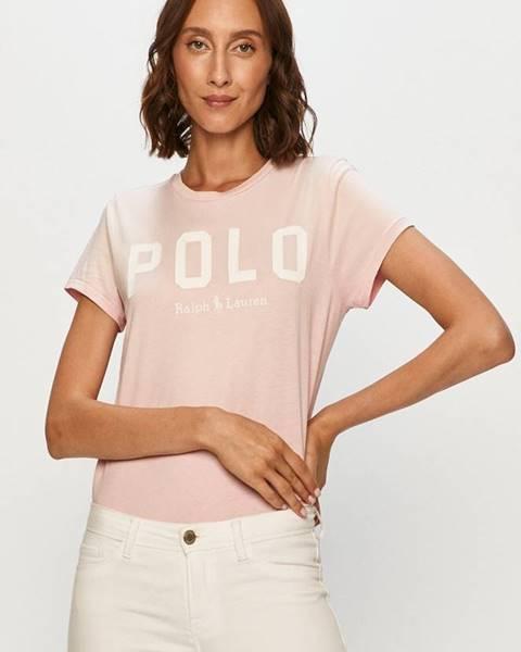 Růžový top Polo Ralph Lauren