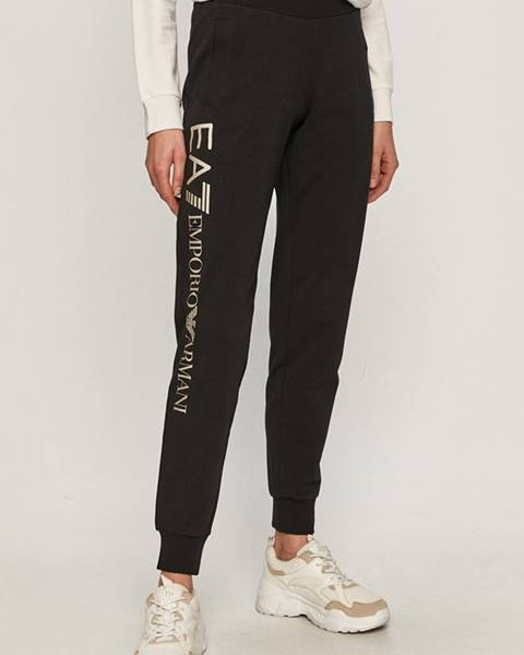 Černé kalhoty EA7 Emporio Armani