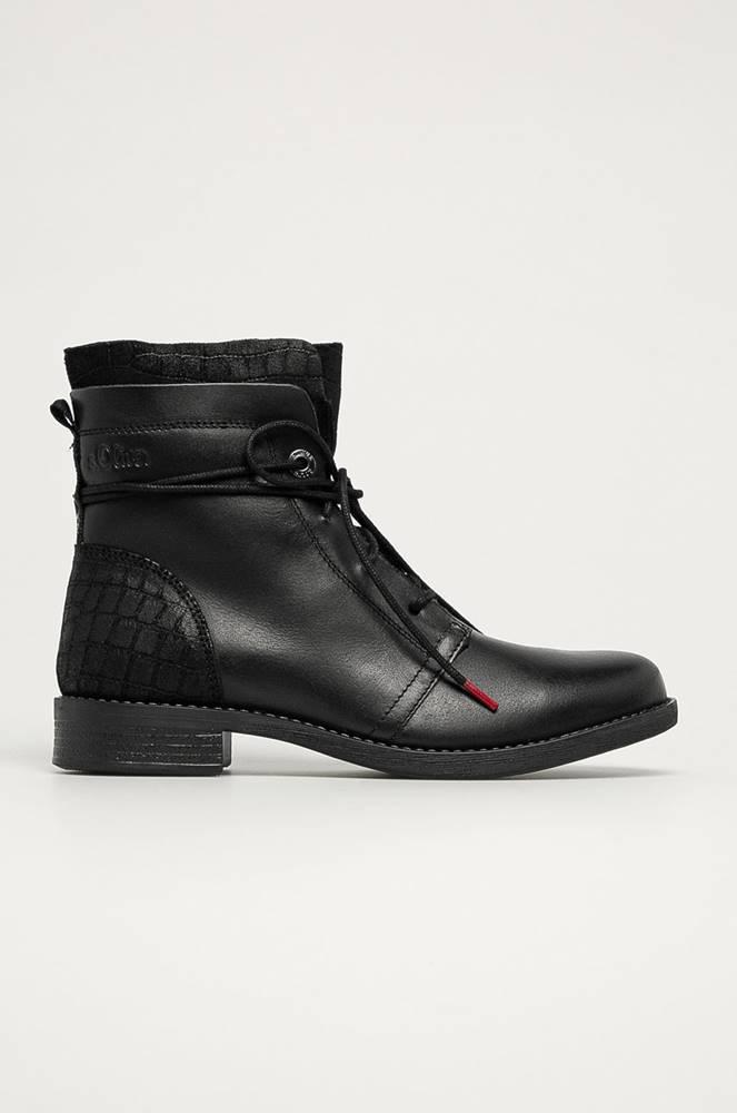 s.oliver s. Oliver - Kožené kotníkové boty