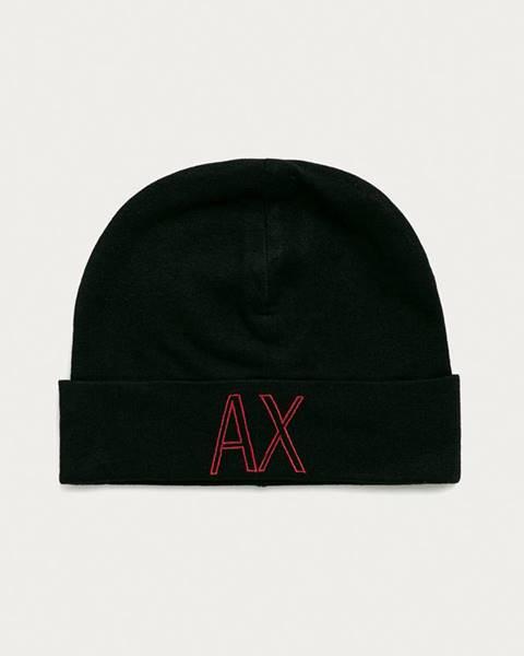 Černá čepice Armani Exchange