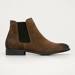 Jack & Jones - Kožené kotníkové boty