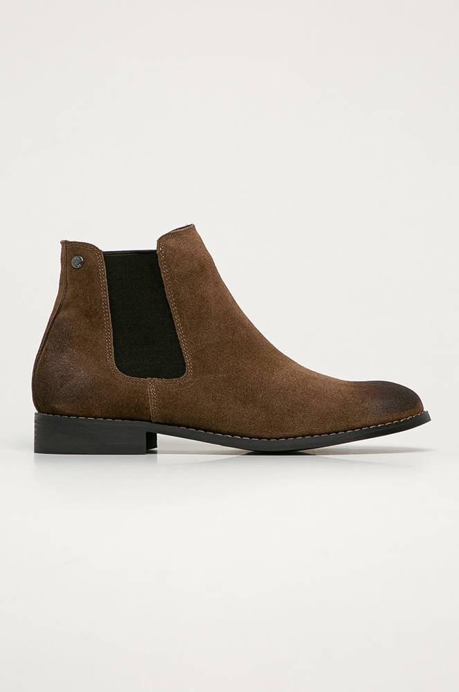 jack & jones Jack & Jones - Kožené kotníkové boty