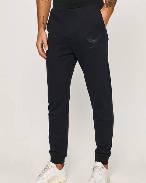 Modré kalhoty Armani Exchange