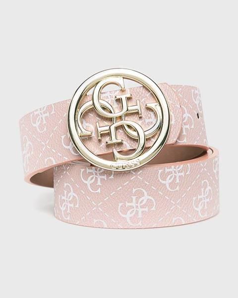 Růžový pásek Guess
