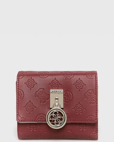Burgundská peněženka Guess