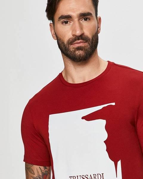 Červené tričko Trussardi Jeans