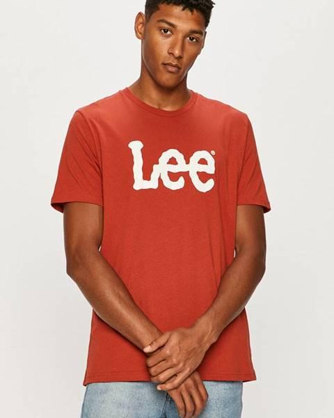 Červené tričko lee