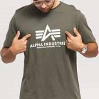 Alpha Industries Basic Tee tmavě olivové