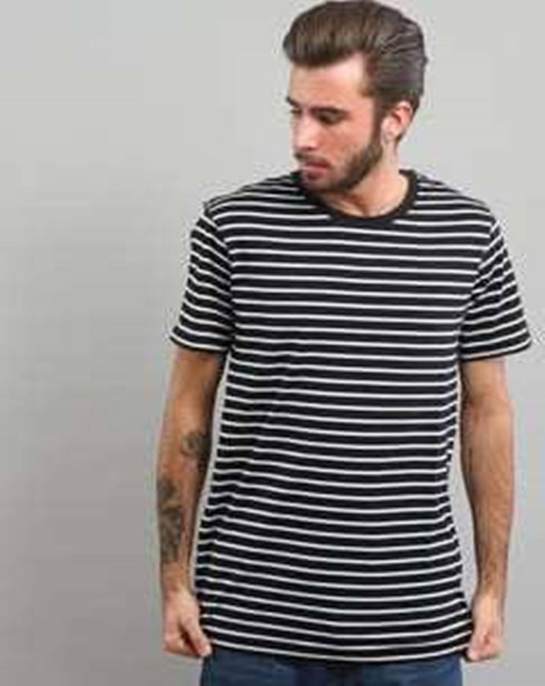 Urban Classics Striped Tee černé / bílé XL