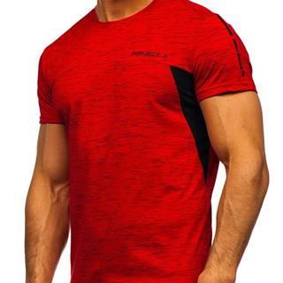 Červené pánské tričko s potiskem