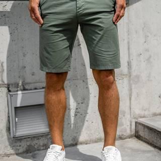 Zelené pánské džínové kraťasy