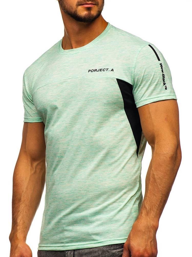 J.STYLE Mátové pánské tričko s potiskem