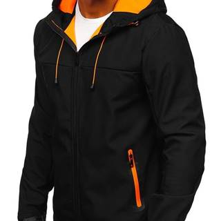 Černá pánská přechodová softshellová bunda