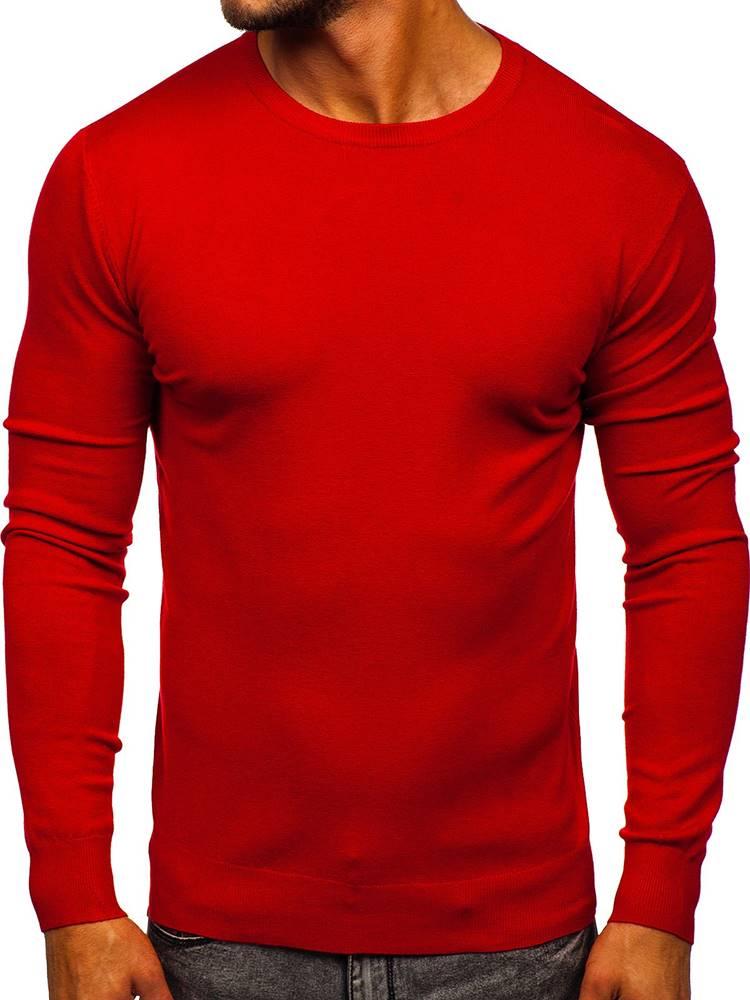 TMK JEANS Červený pánský svetr