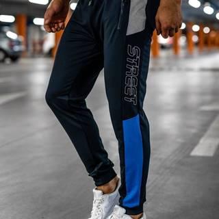 Tmavě modré pánské teplákové joggery