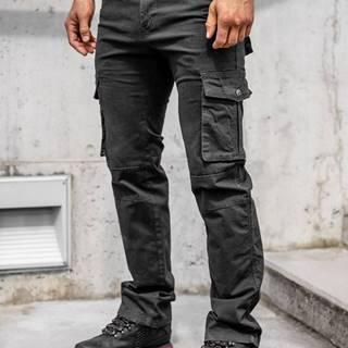 Černé pánské kapsáče s páskem
