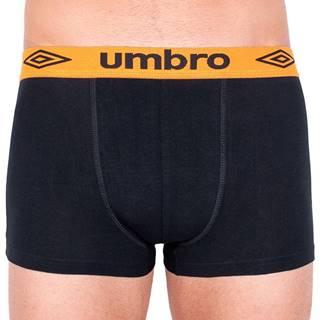 Pánské boxerky  short černé s oranžovou gumou S Možnost vrácení zboží do 120 dnů!