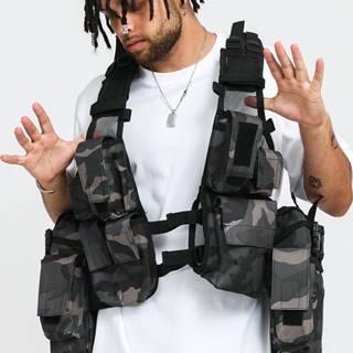 Tactical Vest camo šedá