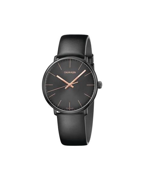 Černé hodinky Calvin Klein