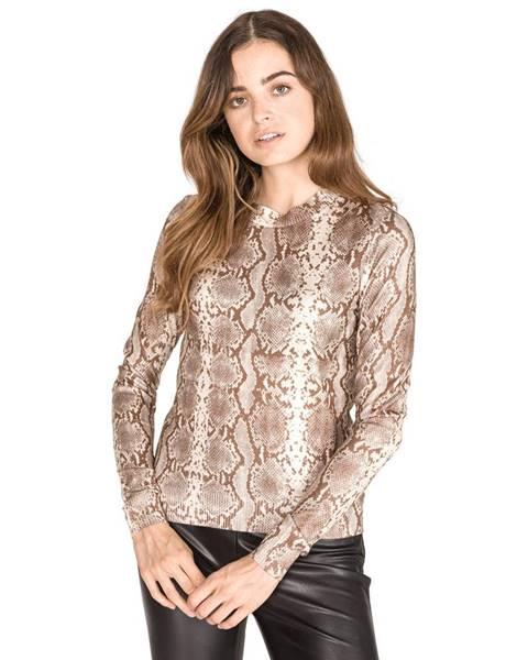 Hnědý svetr vero moda