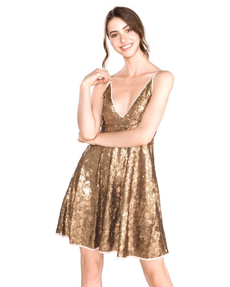 TWINSET TWINSET Šaty Zlatá