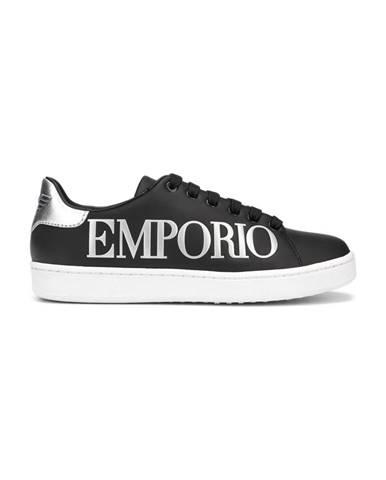Černé tenisky Emporio Armani