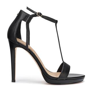 Boty na podpatku Černá