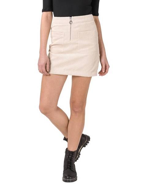 Béžová sukně vero moda