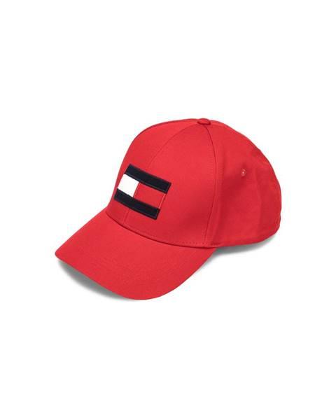 Červená čepice tommy hilfiger