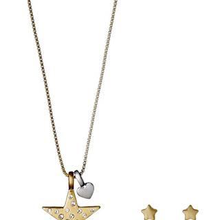 Pilgrim Valentine Sada šperků Zlatá