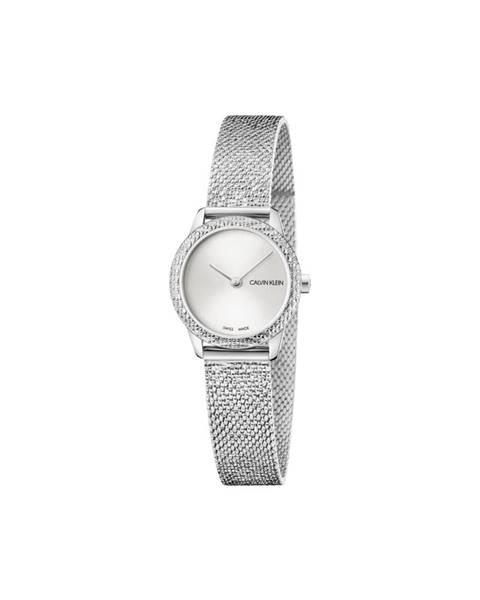 Stříbrné hodinky Calvin Klein