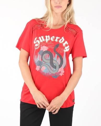 Červený top superdry