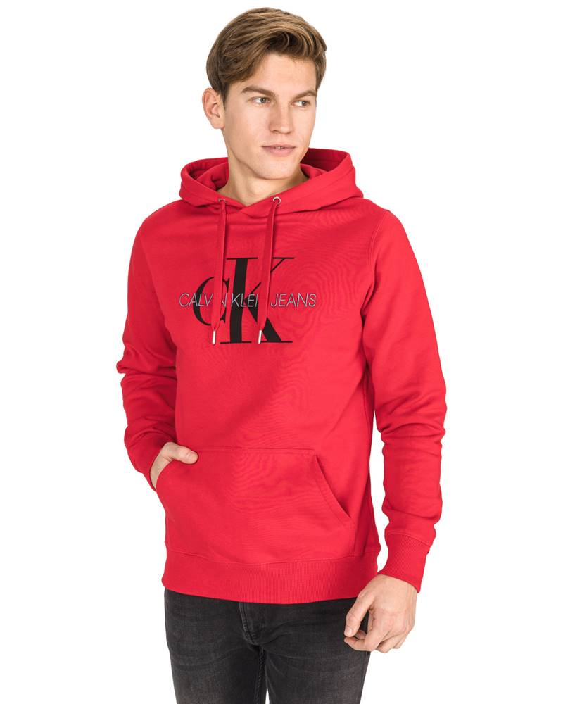Calvin Klein Calvin Klein Monogram Mikina Červená